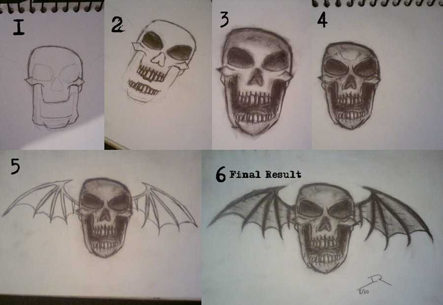 900x621 A7x Deathbat Drawing Stages By Bullshitincdesign