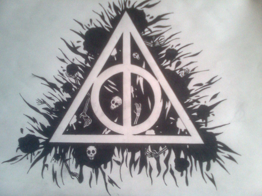 900x675 Deathly Hallows Drawing Deathly Hallows And Harry