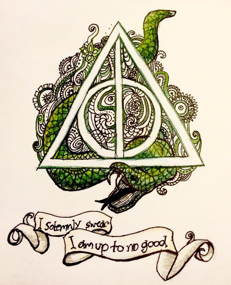805x992 Deathly Hallows Zentangle By Alisonm47