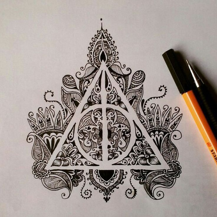 736x736 Deathly Hallows Negative Space Tattoo Tattoos Amp Piercings