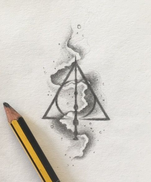 485x584 Deathly Hallows Tattoo Design Tattoos Deathly