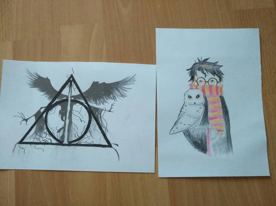 900x673 Harry Potter And Deathly Hallows Drawing By Laco13