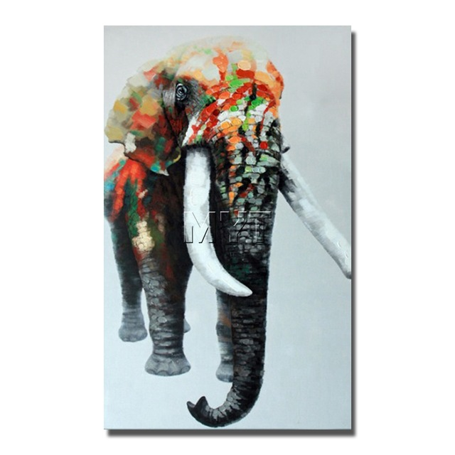 640x640 Indian Elephant Wild Animal Wall Art Paintings Dropship