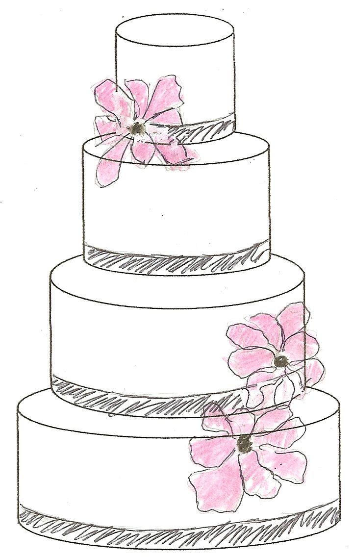 720x1136 12 Drawing Of Decorations For Cakes Photo