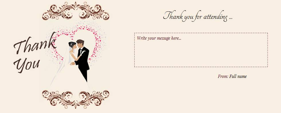 981x396 Wedding Card Design Cream Rectangle Paper Black Typography