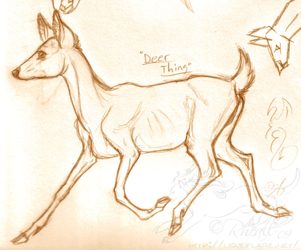 614x511 Trotting Deer By On @ Deer