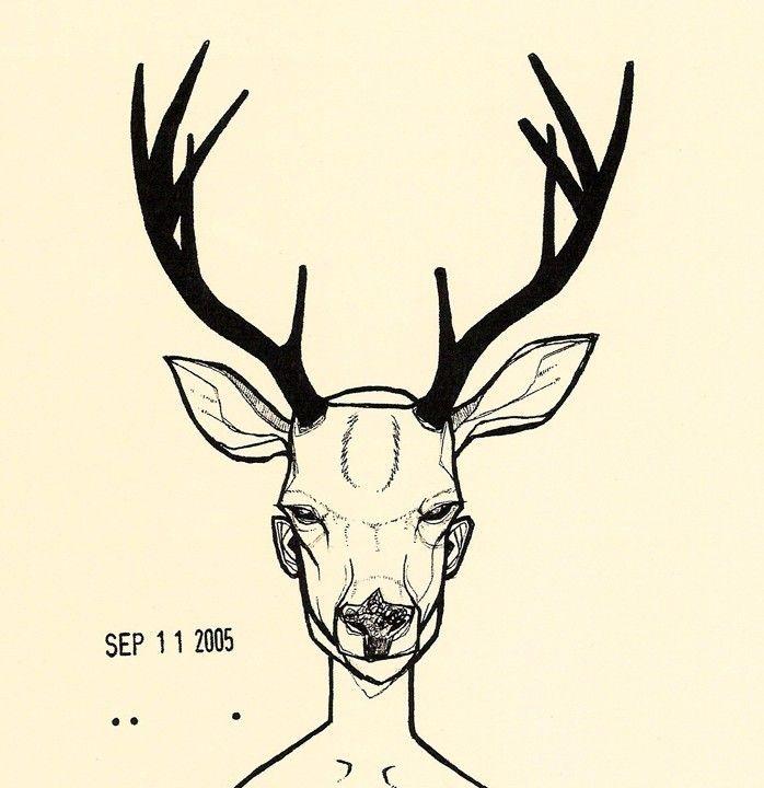 698x720 Deer Mask Two Color Woodland Forrest Anthropomorphic Deer Antler