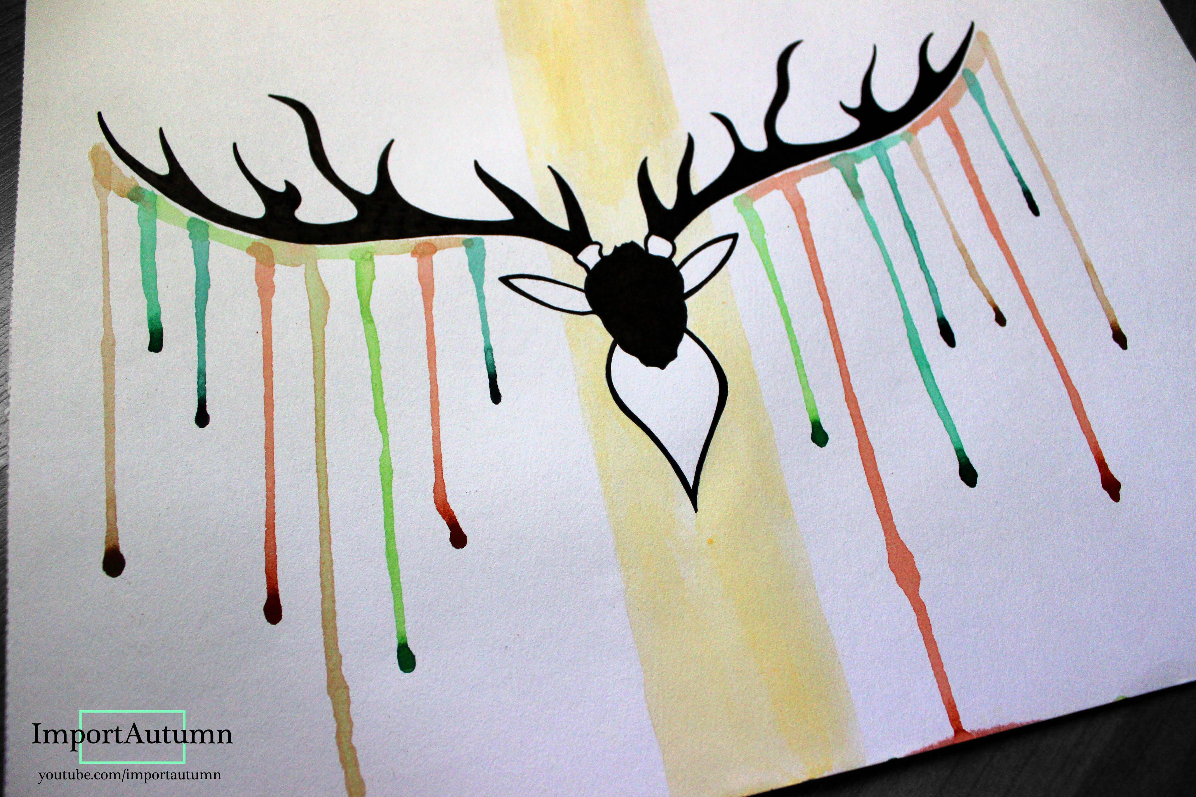 4096x2731 Let's Draw Deer Antlers + Watercolour [Artwork]