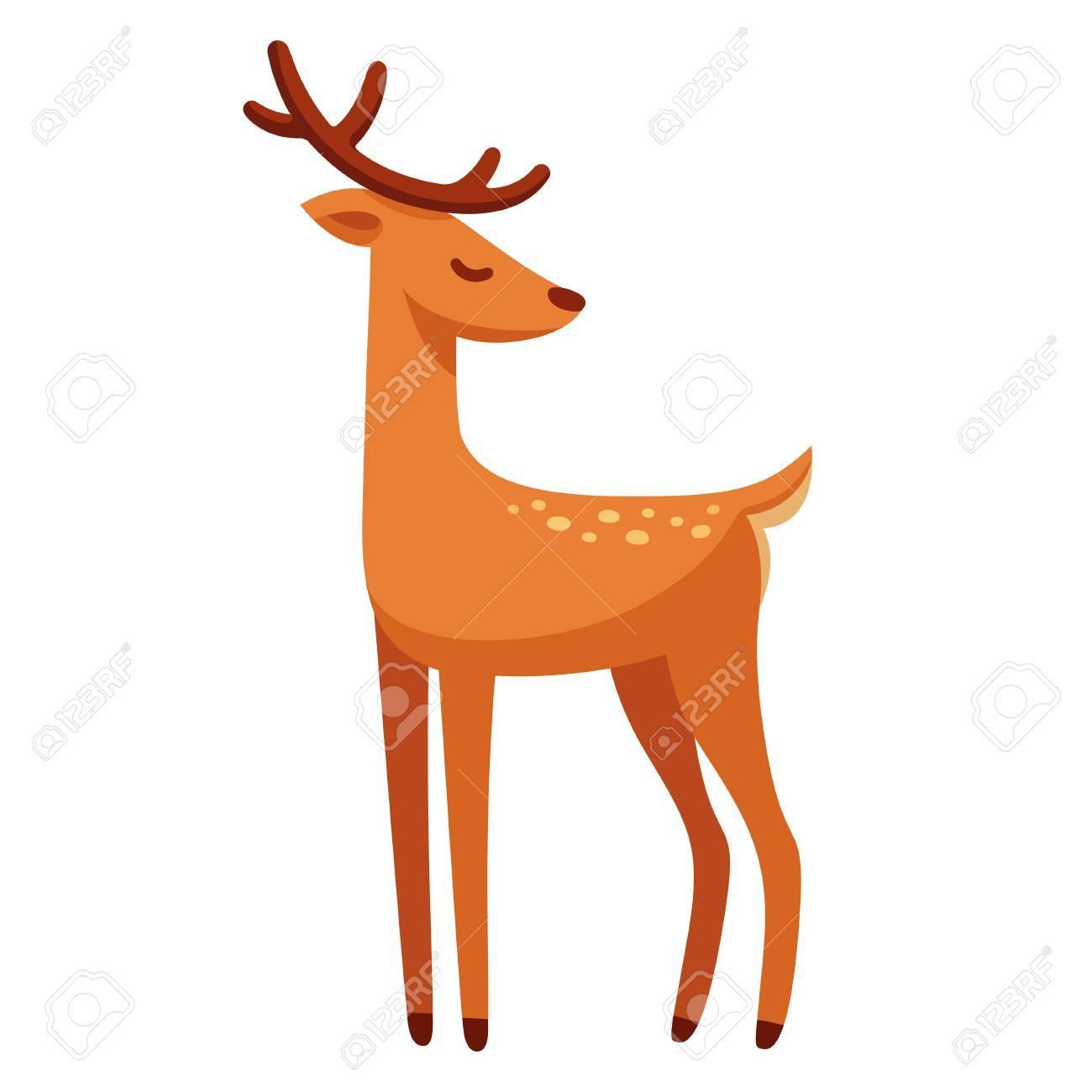 1300x1300 Cartoon Male Deer Drawing Royalty Free Cliparts, Vectors,