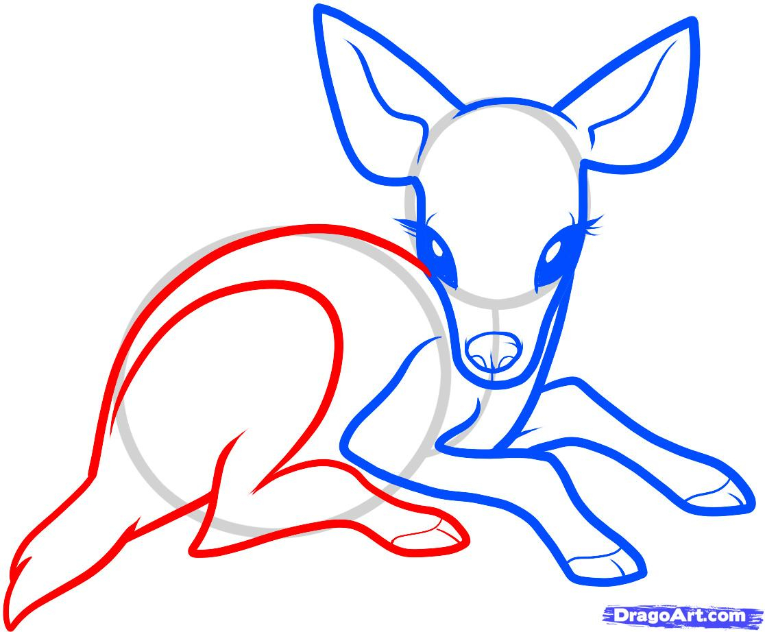 1116x922 A Drawing Of A Deer Cute anime deer How To Draw A Baby Deer
