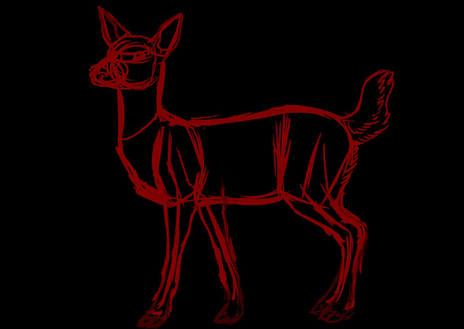 1878x1331 Drawing Deer Drawings