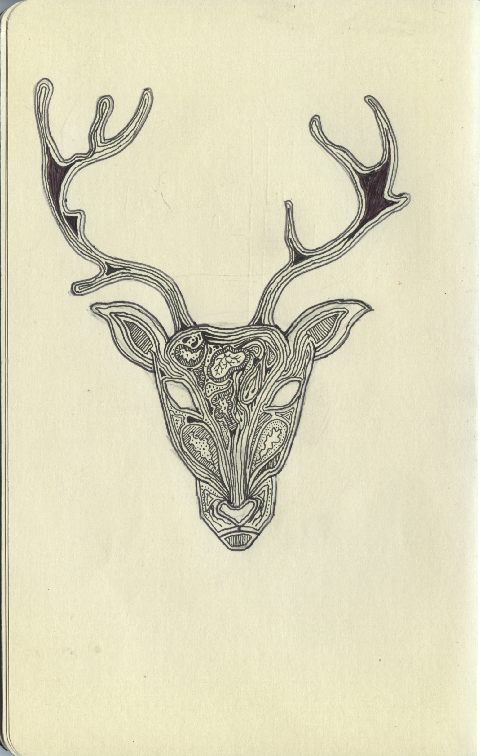 1607x2438 Deer Hunter Fineliner In Moleskine All Copyright Belongs To Laura