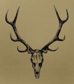236x267 Elk Skull Rack Tattoo Elk And Tattoo