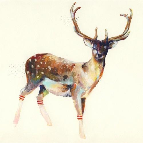 500x499 Animal, Antlers, Art, Charmaine Olivia, Deer