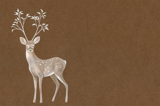 610x406 Antlers, Deer, Drawing, Hissss, Illustration, Plantlers