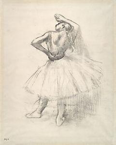 240x300 Degas Dancer Drawings Standing Dancer, Arm Raised