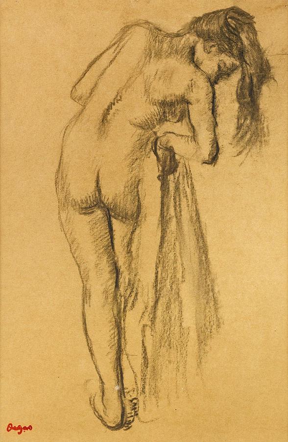 588x900 La Toilette Apres Le Bain Drawing By Edgar Degas