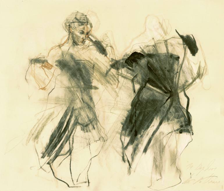 770x658 Saatchi Art Hommage Degas Xii Drawing By Ute Rathmann