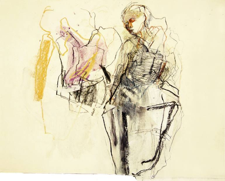 770x617 Saatchi Art Hommage Degas Xxix Drawing By Ute Rathmann