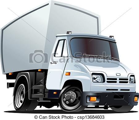 450x391 Cartoon Delivery Cargo Truck Isolated On White Background