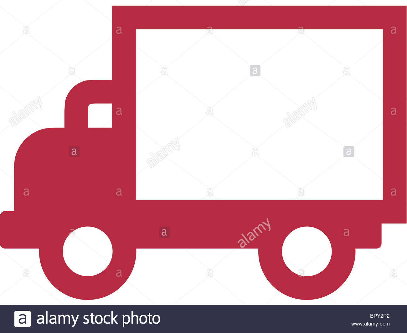 1300x1065 Drawing Of A Delivery Truck Stock Photo 31327690