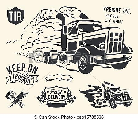 450x391 Vintage Truck Delivery Theme. Isolated Cargo Theme On Off