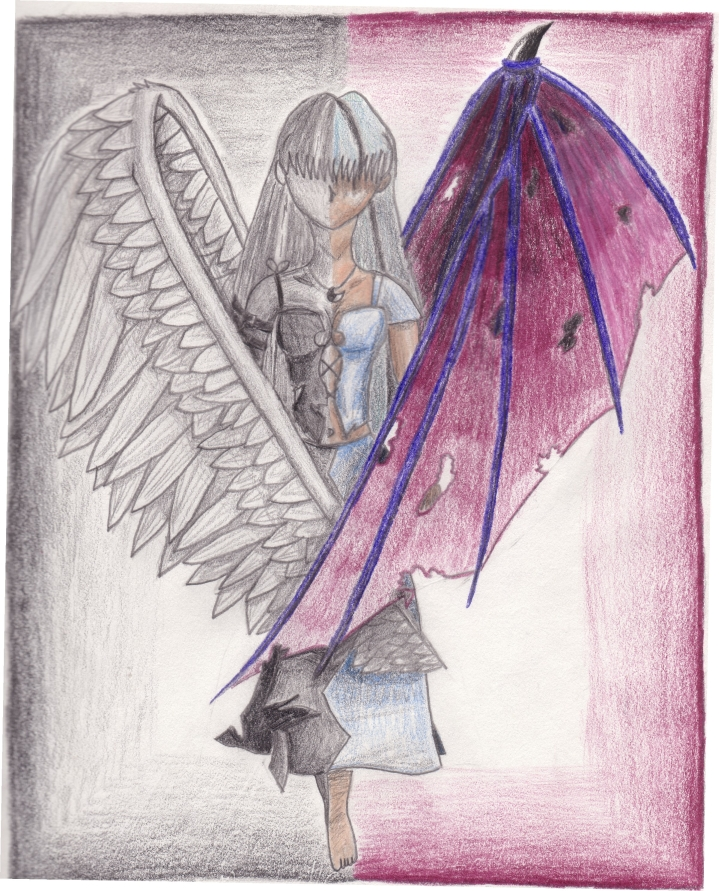 demon angel drawing at getdrawings com free for personal use demon