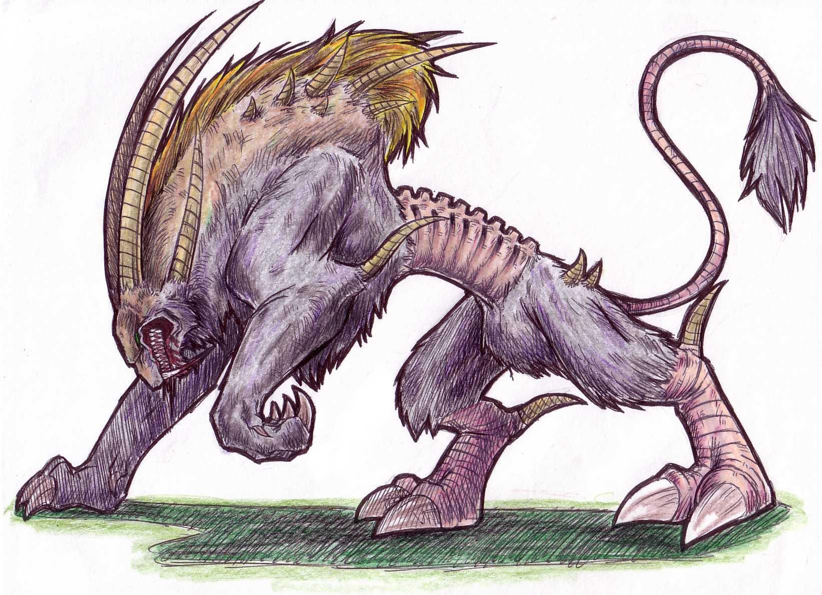 1642x1188 Demon Dog By Dokuro