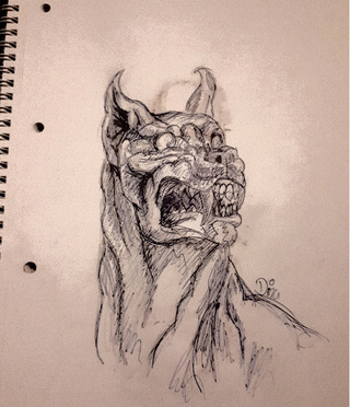 320x372 Demondog Drawings On Paigeeworld. Pictures Of Demondog