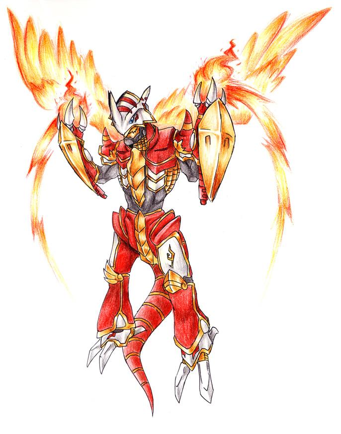 686x872 Burning Demon Dragon By Garmmon