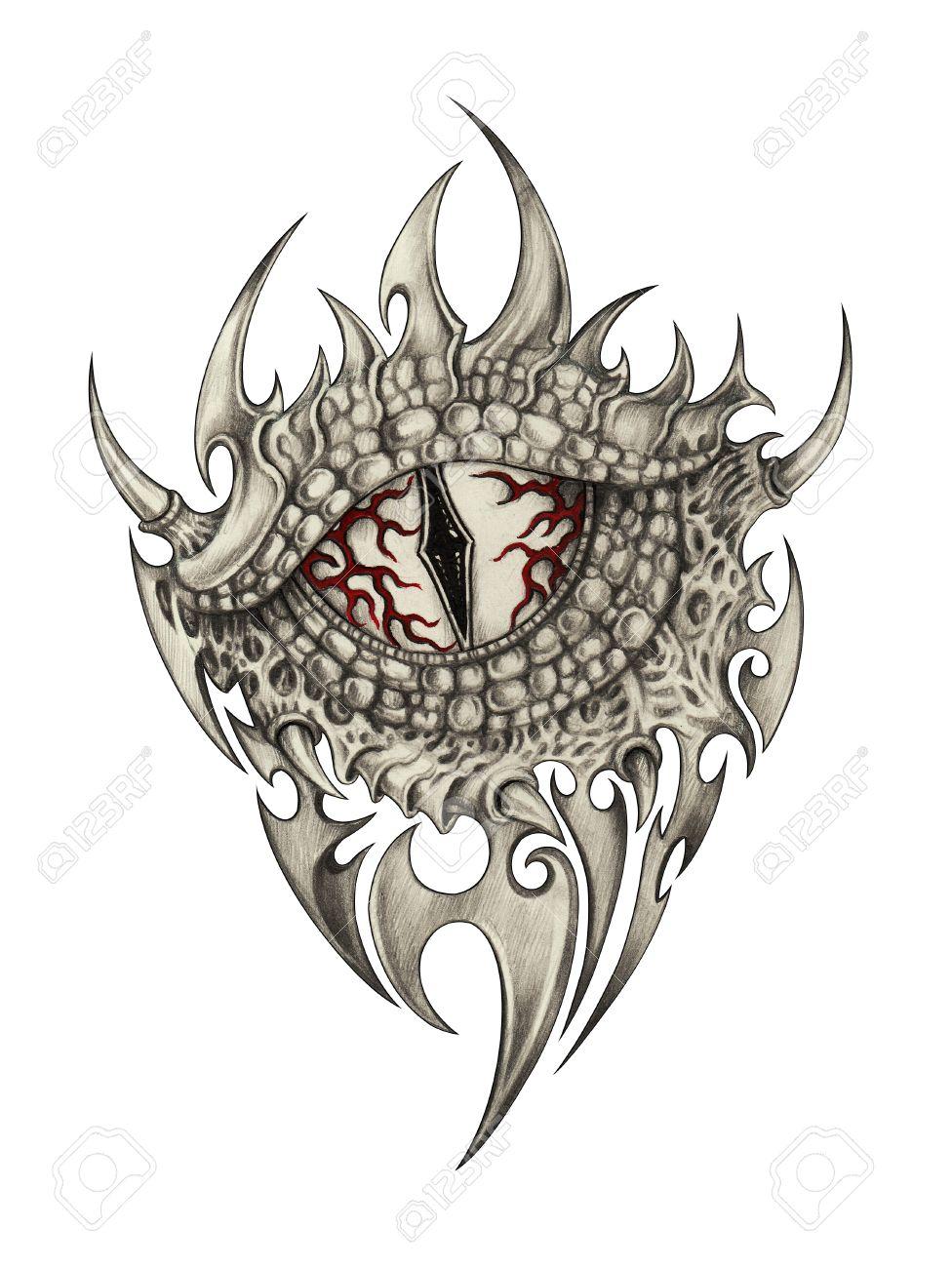 976x1300 Demon Dragon Tattoo