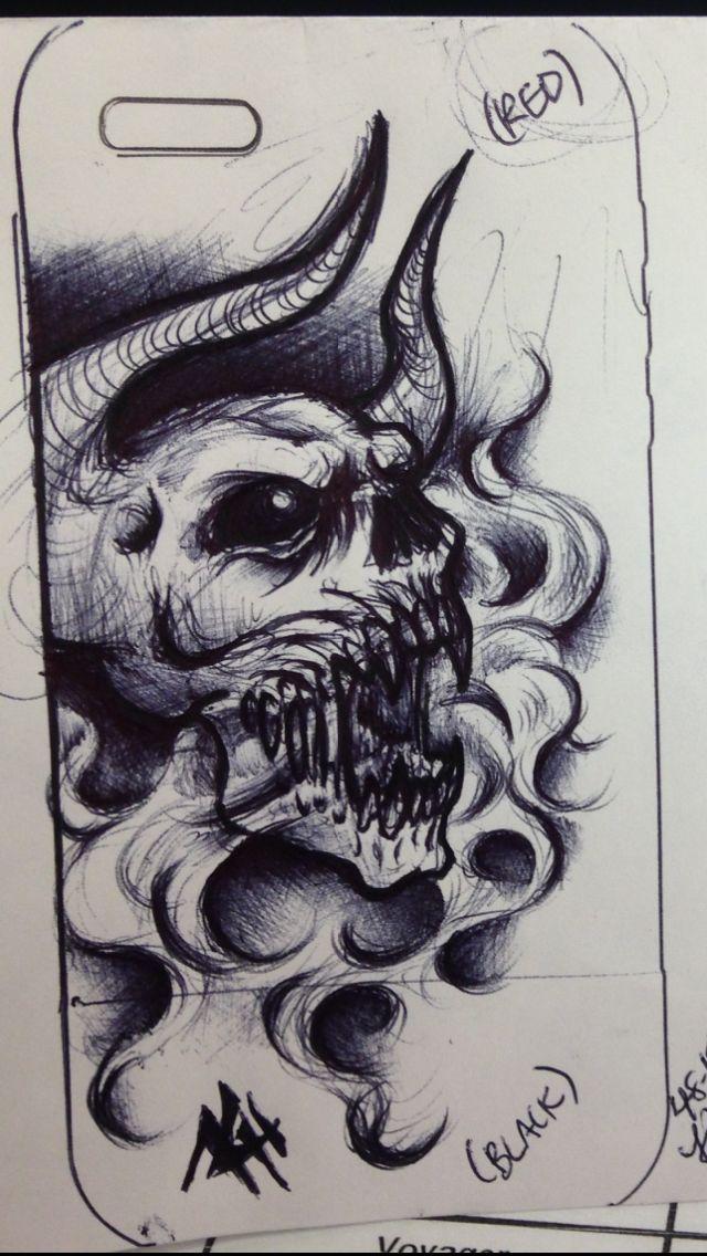 640x1136 31 Best Smoke Demon Tattoo Drawings Images On Tattoo