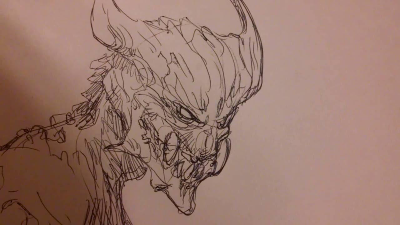 1280x720 Demon Sketch