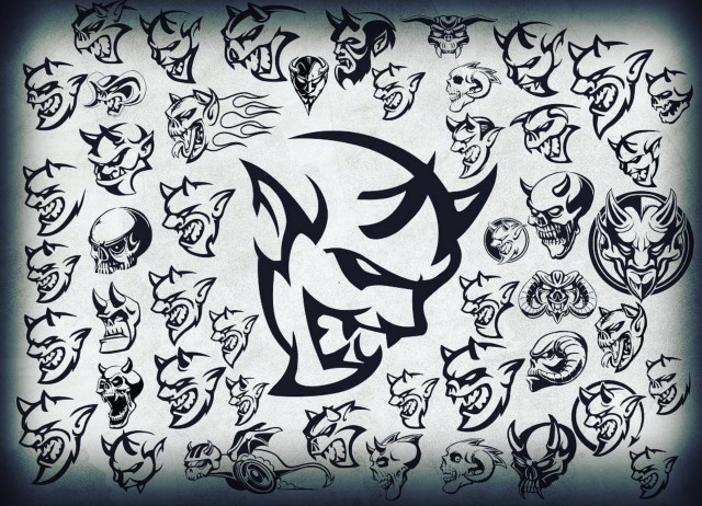 640x462 Demonic Drawings Dodge Shows Concept Sketches For Demon Logo
