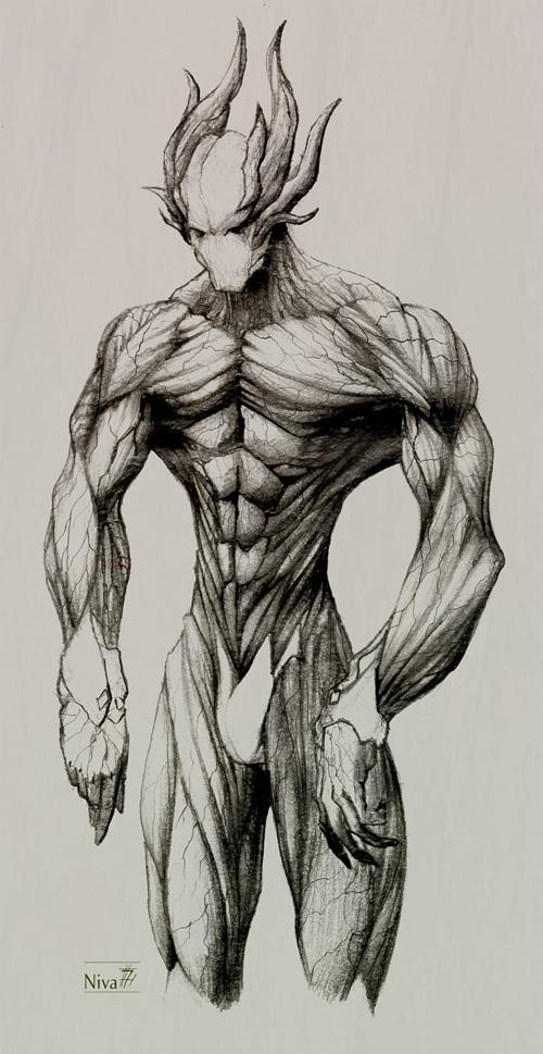 500x969 Empath Demon Sketch By Nik Ivanov