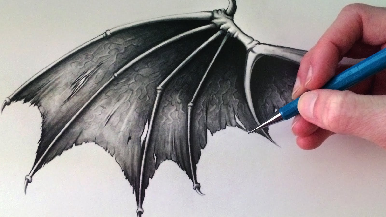 1600x900 How To Draw A Demon Wing