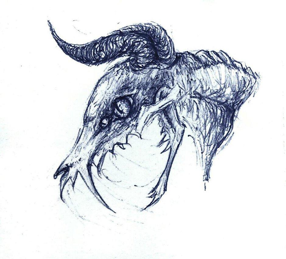 940x850 Quick Drawing Demon Head 2 By Zimowajaszczura
