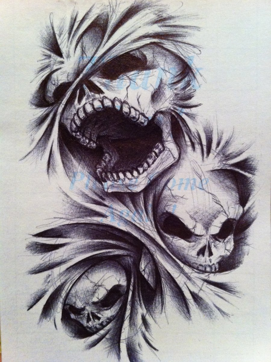 900x1205 Angels And Demons Tattoos Demon Neko Of Hell Tattoo Design I
