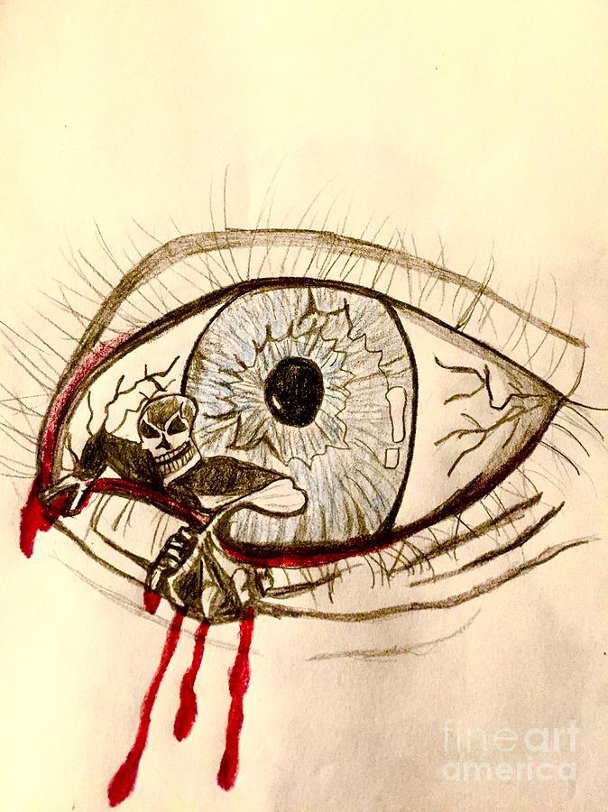 674x900 Demon Eye Drawing By Shylee Charlton