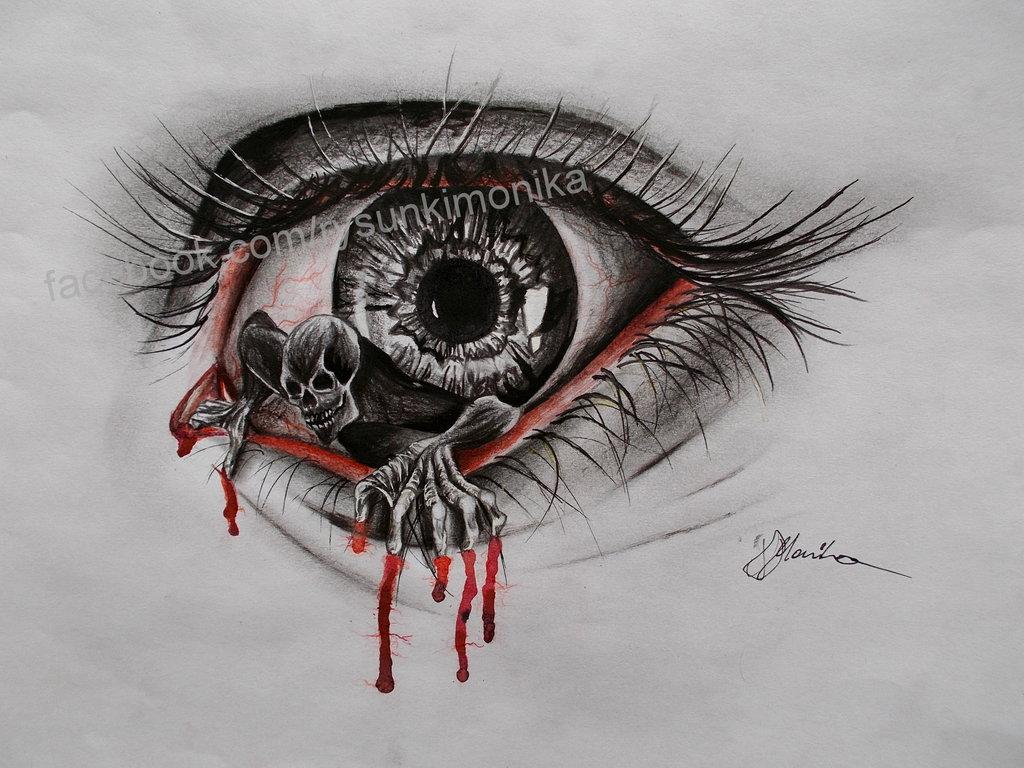 1024x768 Demon Eye By Mydrawings11