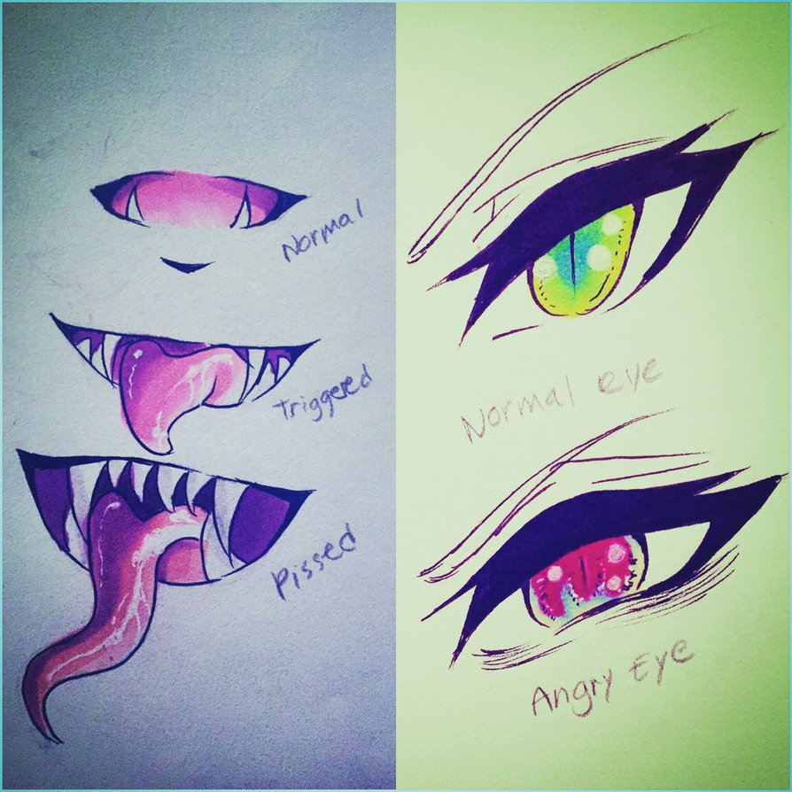 894x894 Demon OC Eyes Fangs By KittyeraKatArt On DeviantArt
