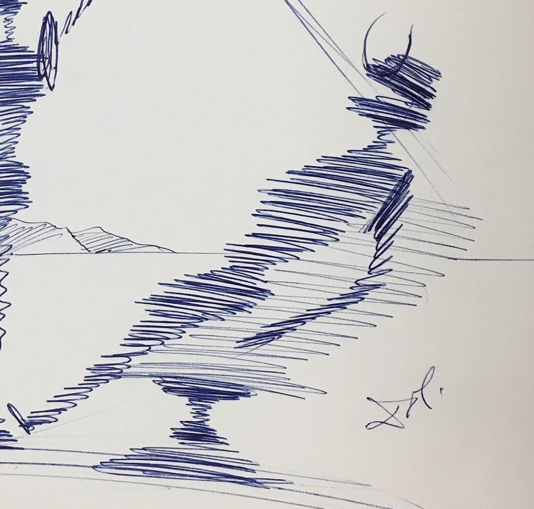 1040x991 Salvador Dali Original Dental Drawing (1965)