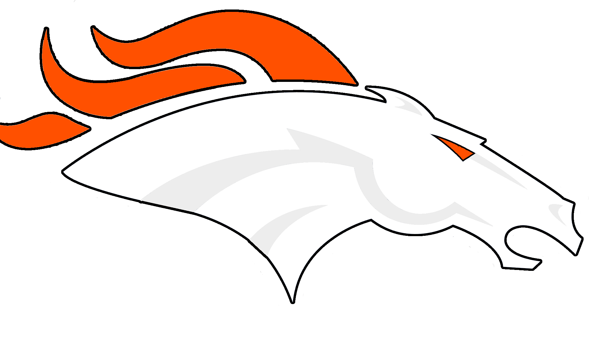 2000x1163 Broncos Logo Drawing How To Draw The Denver Broncos Logo (Nfl