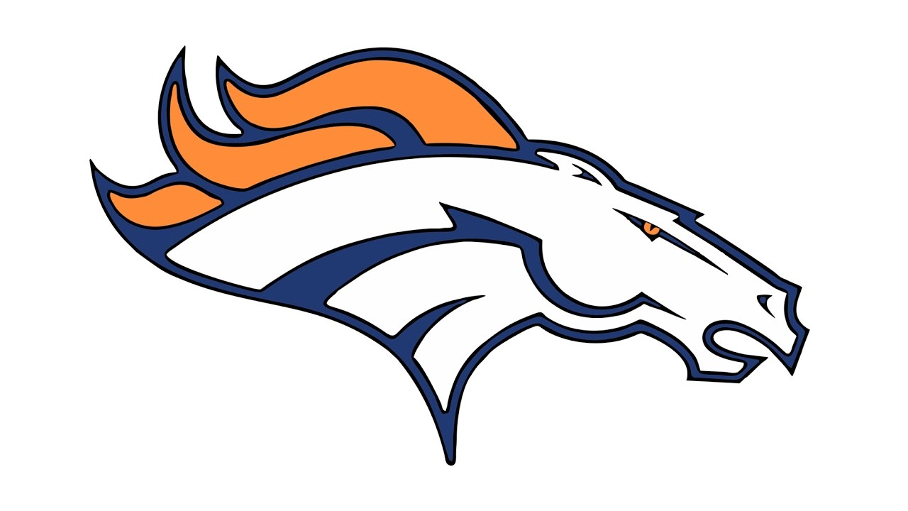 1280x720 How To Draw The Denver Broncos Logo (Nfl)