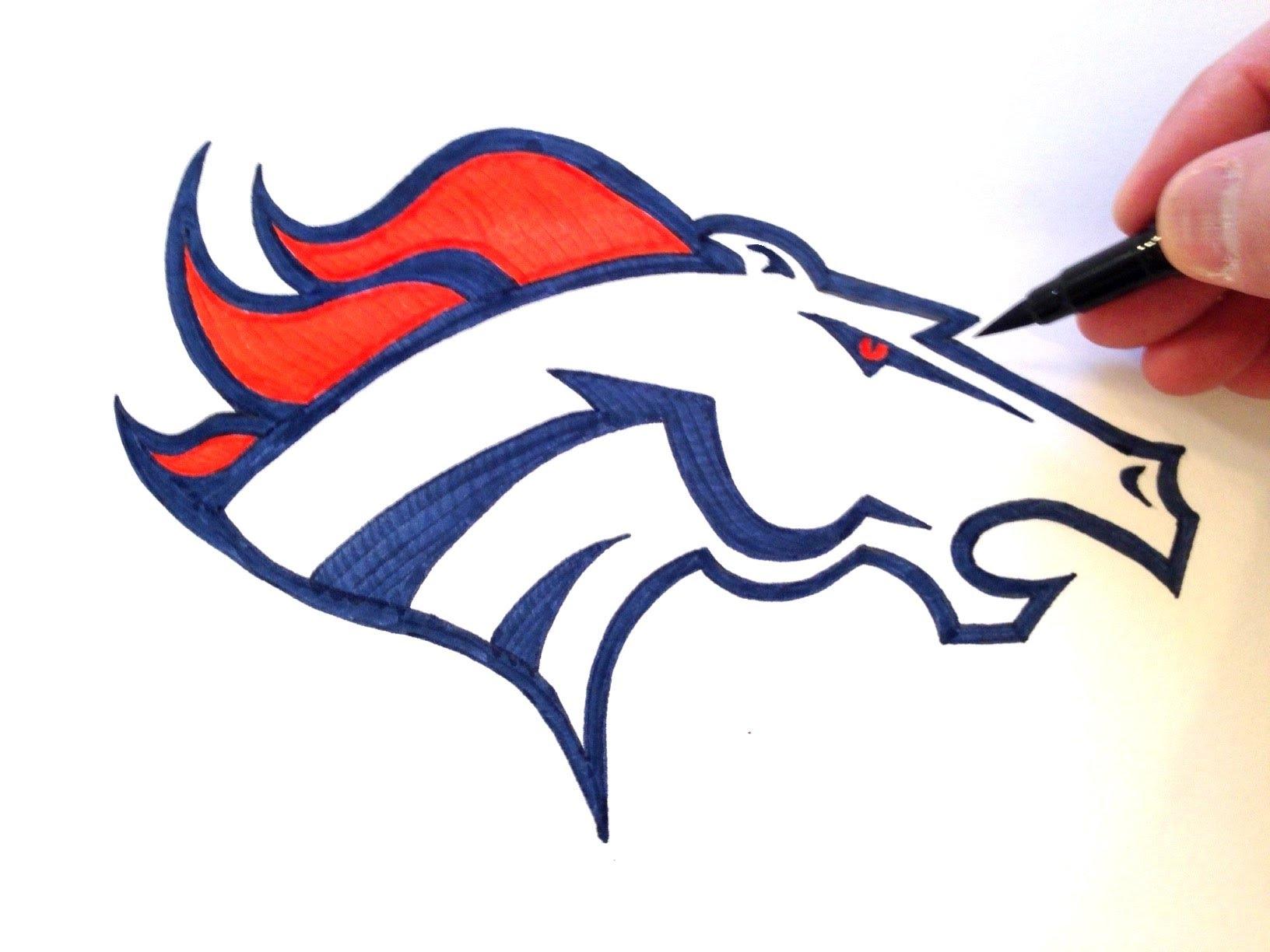 1632x1224 How To Draw The Denver Broncos Logo Freehand
