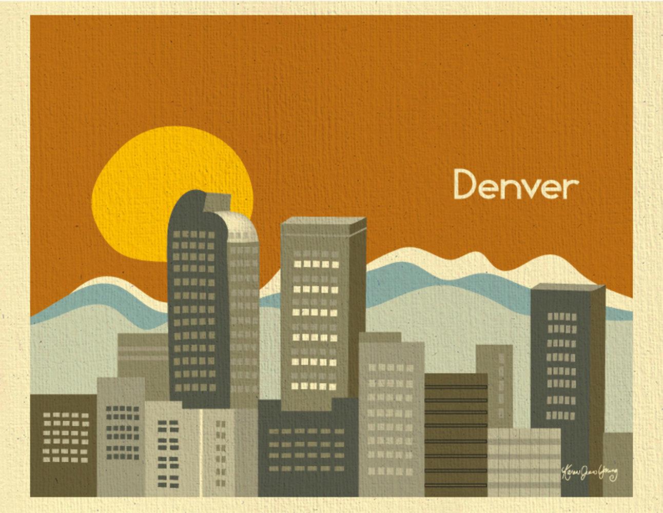 1292x1000 Denver Skyline Silhouette