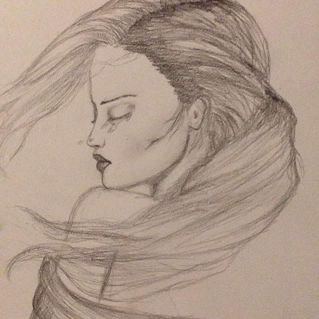 640x640 crying girl drawing