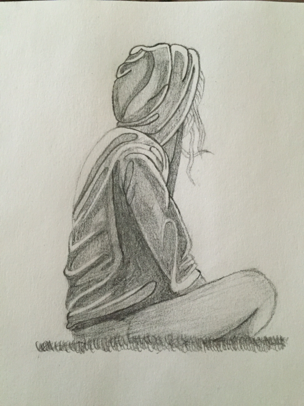 1000x1334 Sad And Crying Girl Pencil Drawing Pencil Sketches Of Lonely Sad