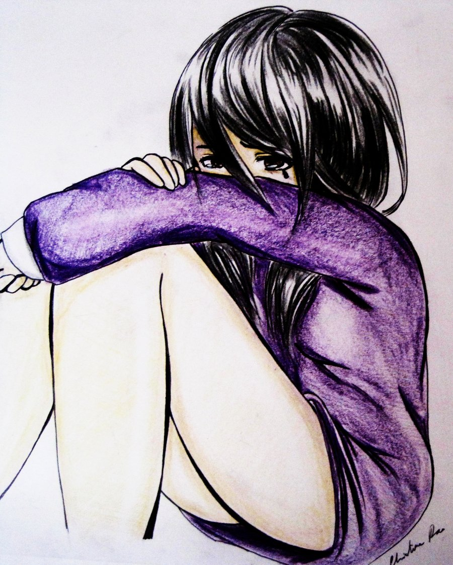 900x1124 Girl Crying By Blackyukito