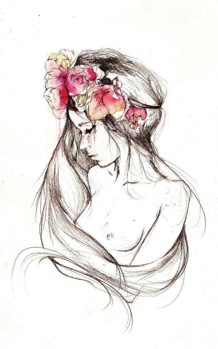 736x1174 Best 25 Sad Girl Drawing Ideas On Pinterest